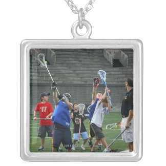 CAMBRIDGE, MA - JULY 08:  Major League Lacrosse 2 Silver Plated Necklace