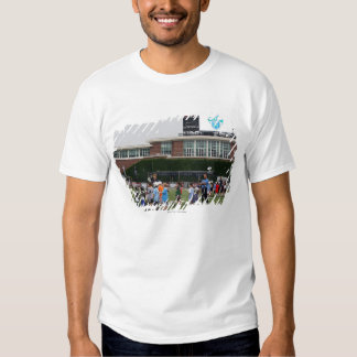 CAMBRIDGE, MA - JULY 8:  Atmosphere at the MLL Shirts