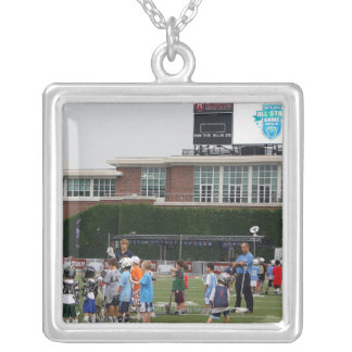 CAMBRIDGE, MA - JULY 8:  Atmosphere at the MLL Silver Plated Necklace