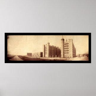 Cambridge MA Riverbank Photo 1903 Poster