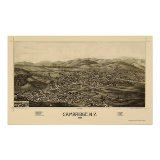 Cambridge, NY Panoramic Map - 1886 Poster