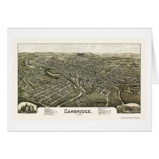 Cambridge, OH Panoramic Map - 1897 Card