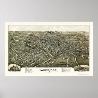 Cambridge, OH Panoramic Map - 1897 Poster