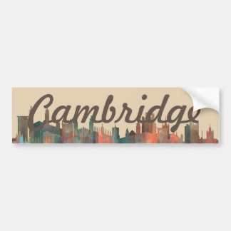 CAMBRIDGE, UK SKYLINE - BUMPER STICKER