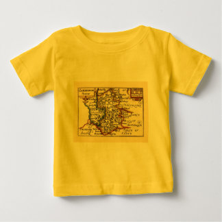 Cambridgeshire County Map, England Baby T-Shirt