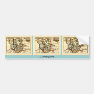 Cambridgeshire County Map, England Bumper Sticker