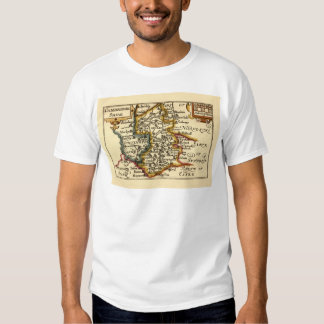 Cambridgeshire County Map, England T-shirts