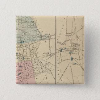Camden, Atlantic City, Woodbury, Mt Holly 15 Cm Square Badge