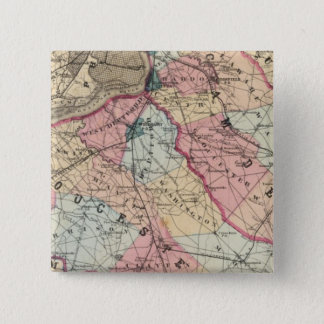 Camden, Gloucester counties, NJ 15 Cm Square Badge