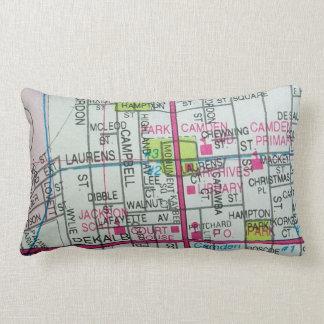 CAMDEN, SC Vintage Map Lumbar Cushion