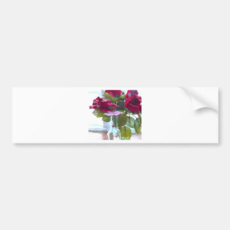 came up to smell the roses.jpg bumper sticker