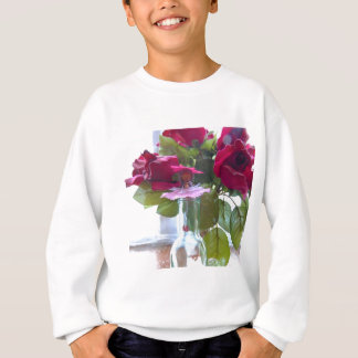 came up to smell the roses.jpg sweatshirt