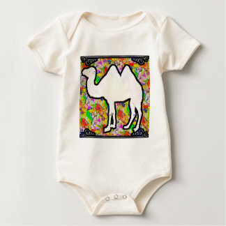 Camel and Flowers Baby Bodysuit