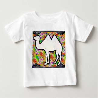 Camel and Flowers Baby T-Shirt