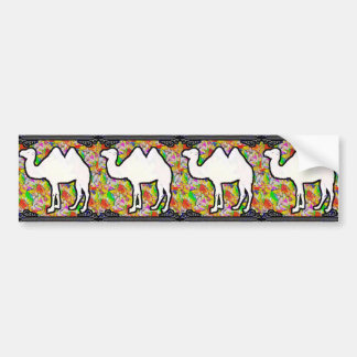 Camel and Flowers Bumper Sticker