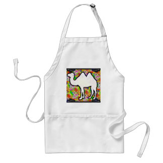 Camel and Flowers Standard Apron