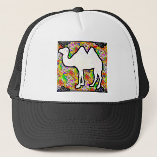 Camel and Flowers Trucker Hat