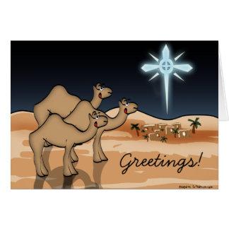 Camel Bethlehem Christmas Card