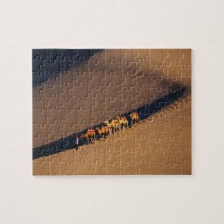 Camel caravan on the desert, Dunhuang, Gansu Jigsaw Puzzle