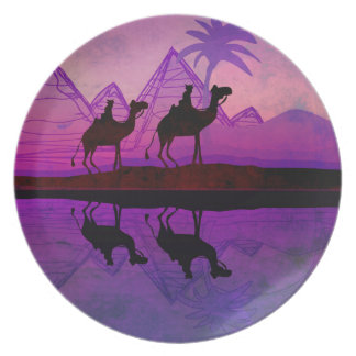 Camel caravan Plate