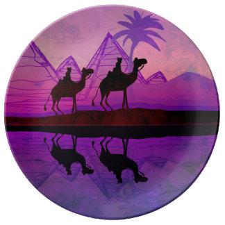 Camel caravan Porcelain Plate