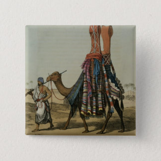 Camel Conveying a Bride to her Husband, engraved b 15 Cm Square Badge