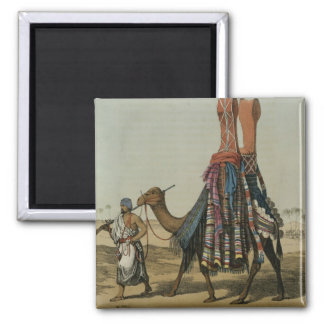 Camel Conveying a Bride to her Husband, engraved b Square Magnet