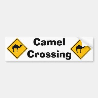 Camel Crossing Bumper Sticker