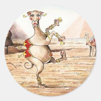 Camel Dance Round Sticker