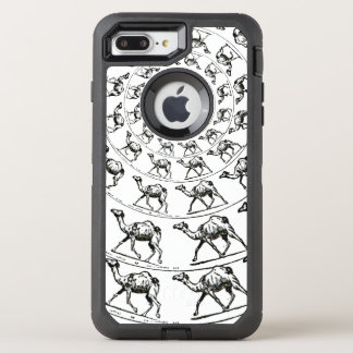 Camel Drawing Illustration Black Ink OtterBox Defender iPhone 7 Plus Case
