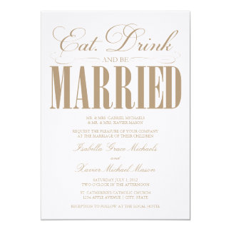 Camel Eat, Drink & Be Married | Wedding Invitation