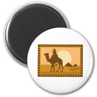 Camel Egypt 6 Cm Round Magnet