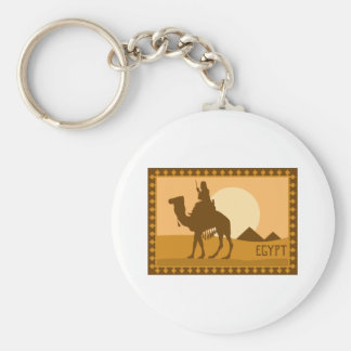 Camel Egypt Basic Round Button Key Ring