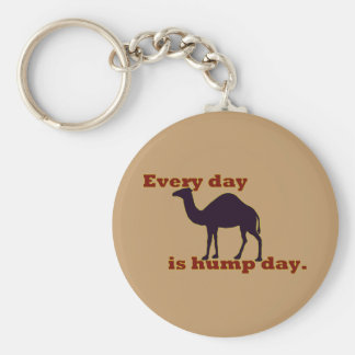 """Camel """"Every Day is Hump Day"""" Basic Round Button Key Ring"""