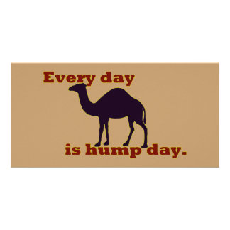 "Camel ""Every Day is Hump Day"" Personalised Photo Card"