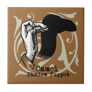 Camel Hand Puppet Shadow Games Vintage Tile