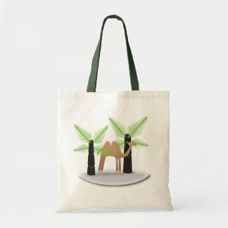 Camel: happy shopping tote bag