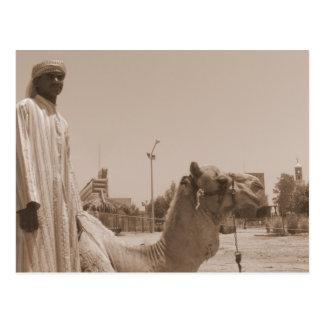 Camel herder postcard