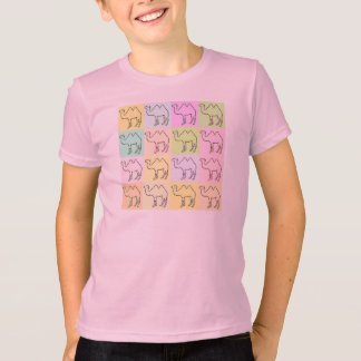 Camel Hieroglyphics Kids Pop Art T-Shirt