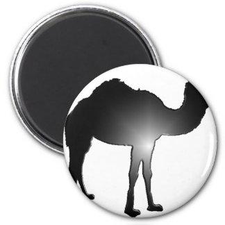 Camel illusion 6 cm round magnet