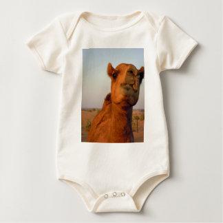 Camel in desert 2 baby bodysuit