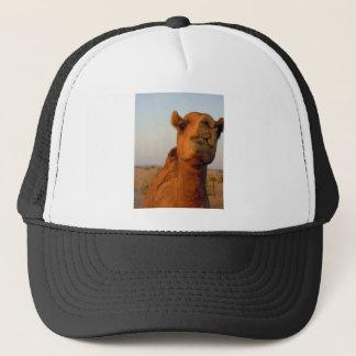 Camel in desert 2 trucker hat