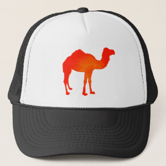 Camel in Red Trucker Hat