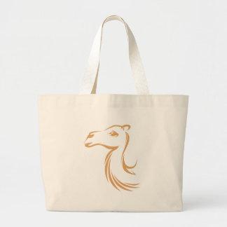 Camel in Swish Drawing Style Jumbo Tote Bag