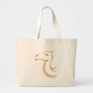 Camel in Swish Drawing Style Large Tote Bag