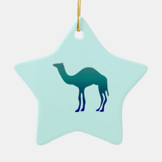 Camel in Teals Christmas Ornament