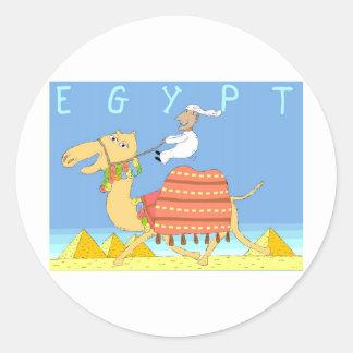 Camel in the Desert Egypt Round Sticker