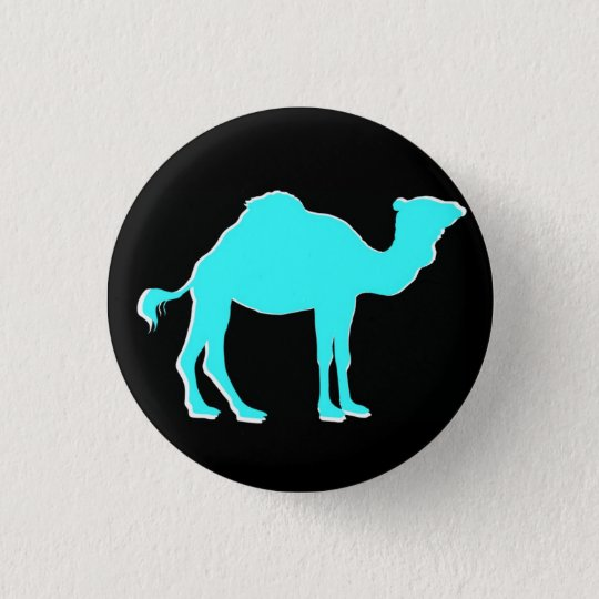 Camel Love: Hump Day Celebration Black & Teal 3 Cm Round Badge