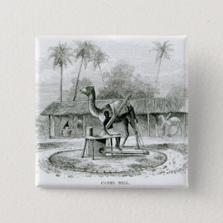Camel Mill, from 'Travels in Africa' 15 Cm Square Badge