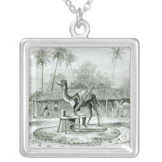 Camel Mill, from 'Travels in Africa' Silver Plated Necklace
